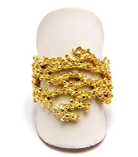 Gold Karat Schmuck filigran sardischer Ring Silber