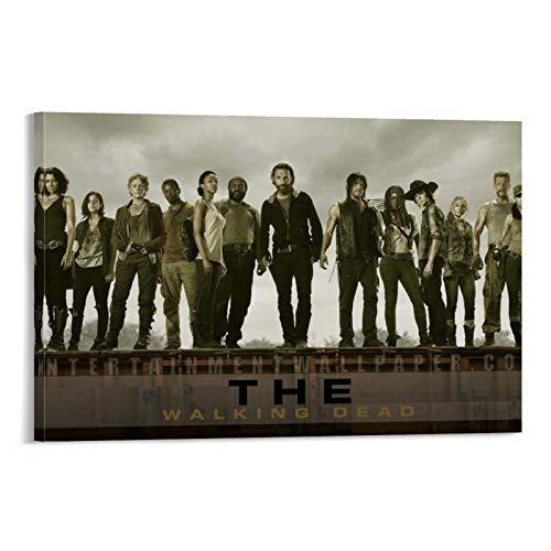 SDFWE Póster de The Walking Dead 10 con impresión de película clásica vintage con diseño de The Walking Dead (30 x 45 cm)