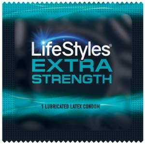 Lifestyles Extra Strength with Brass Lunamax Pocket Case, Lubricated Strong Condoms-24 Count