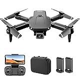 GoolRC S68 RC Drone con Cámara 4K WiFi FPV Cámara Dual Drone Mini Quadcopter de Juguete Plegable para Niños con Control de Sensor de Gravedad Modo sin Cabeza Función de Foto de Video de Gestos