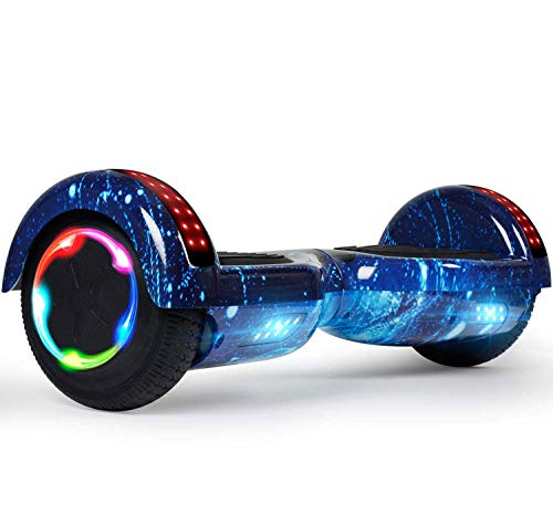 """LIEAGLE Hoverboard, 6.5"""" Self Balancing Scooter Hover Board with UL2272 Certified Wheels LED Lights for Kids Adults(starry blue)"""
