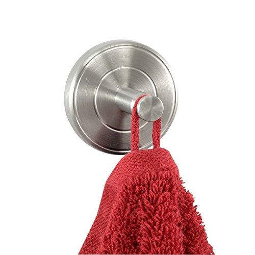 Ambiente Badserie Handtuchhaken, Handtuchhalter für Bad, 2er Set aus robustem Edelstahl matt - zur Wandmontage