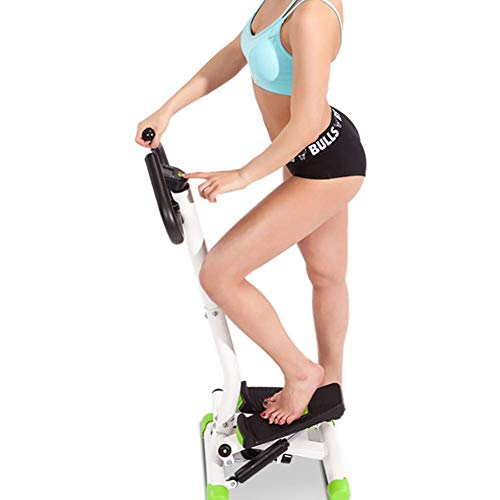 DSHUJC Adjustable Fitness Twist Stepper With Handlebar,mini Stair Stepper For Home Use,multifunction Cardio Training Exercise Equipment A 40.5x35x110cm(16x14x43inch)