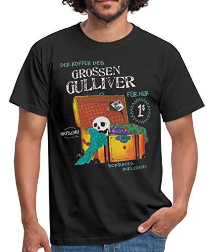 Die DREI ??? Und Der Sprechende Totenkopf Männer T-Shirt, 3XL, Schwarz