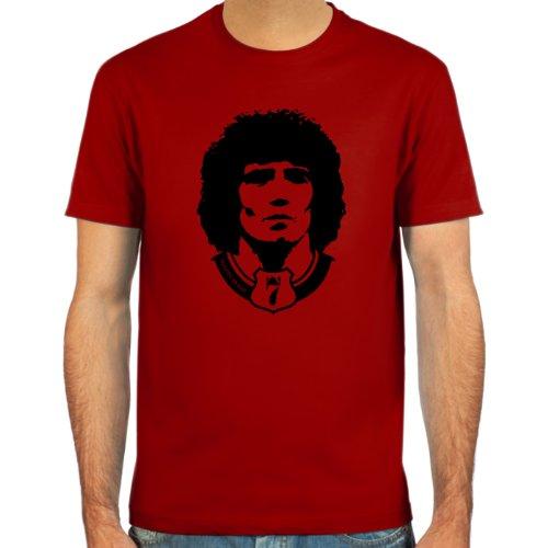 SpielRaum T-Shirt Kevin Keegan ::: Farbauswahl: SkyBlue, Sand, Weiß oder Deepred ::: Größen: S-XXL ::: Fußball-Kult