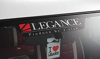【LEGANCE】レガンス Newブランドロゴステッカー シルバー×レッド(37cm×10cm)