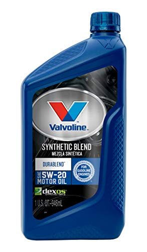 Valvoline  DuraBlend  SAE 5W-20 Synthetic Blend Motor Oil 1 QT, Case of 6