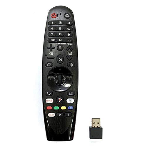 DERCLIVE Mando a distancia universal de repuesto para televisores LG 4K UHD AN-MR19BA AM-HR19BA AKB75635305