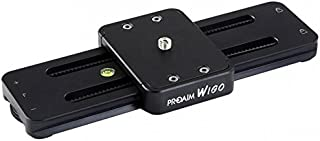 "Proaim Wigo 9""/22cm Portable DSLR Camera Camcorder Slider with Load Capacity 10Kg/22lbs | Professional Track Dolly Rail Slider Tripod Compatible Video Stabilization System (SL-WG)"