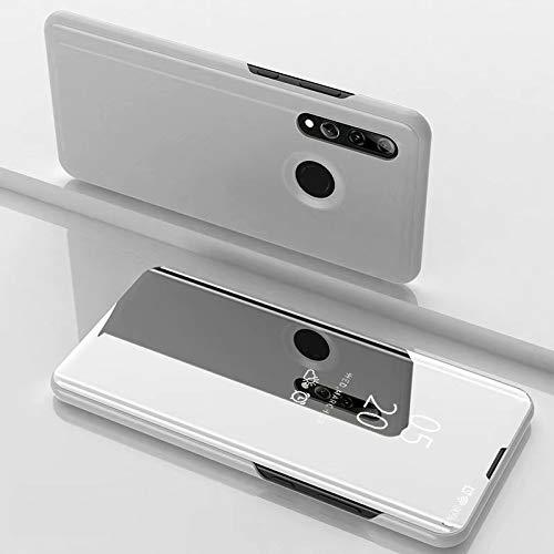 A/M Huawei-Handyfall JRC Galvanik Spiegel Horizontal Flip Ledertasche for Huawei Honor 10i / Nova 4 Lite, mit Halter (Black) Huawei Erweiterte Stoß- Rückfall (Color : Silver)