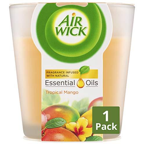 Air Wick Essential Oils Candle Tropical Mango, 105g
