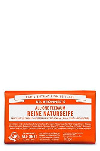 Dr Bronner's Teebaum Pure Castile Bar Soap 140 gr