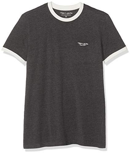 Teddy Smith THE-TEE MC T- Shirt, Gris (Anthracite Chiné/Middle W 177b1), X-Large (Taille fabricant:XL)