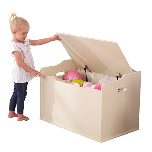 KidKraft Spielzeugtruhe Austin – Vanille, 77,6×46,4×49,8cm - 2