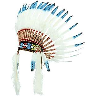 Gringo Native American Chief Headdress - Blue with Black Spots