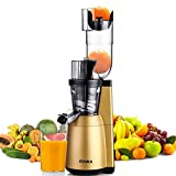 Slow Masticating Juicer, ROVKA High Nutrient and Vitamins Juice Extractor, 3.15 Inches Wide Chute Cold Press Juicer for Fruit and Vegetable