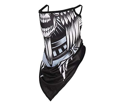 Alsino Mundschutz Totenkopf Stoffmaske Mund- und Nasenschutz 2 in 1 Mundschutz- und Halstuch Maske Alltagsmaske waschbar Stoff - Hoher Stoff Behelfsmaske Schutzmaske