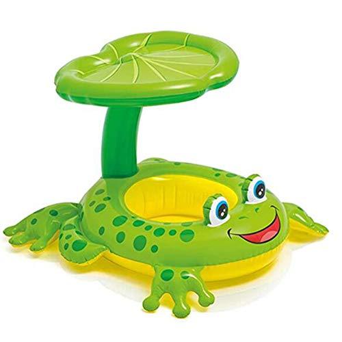 Frosch Schwimmring, Baby Schwimmhilfe Schwimmsitz Babysitz Klein-Kinder Schwimmring - Frosch Babyboot Mit UV-Schutz Dach Für Kleinkind Schwimmhilfe Spielzeug