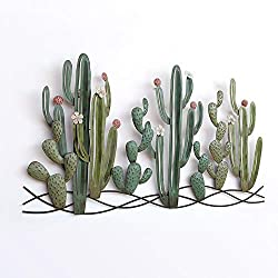 Cactus outdoor art wall hanging to beautify the backyard