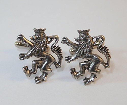 Boutons de Manchette Lion Héraldique (avec Boîte à Cadeau)