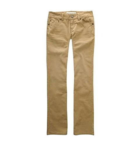 Aeropostale Womens Solid Casual Corduroy Pants, Beige, 1/2 Regular