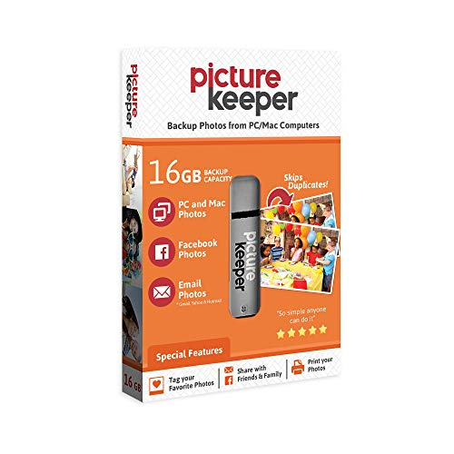 Picture Keeper 16GB Portable USB Photo Backup and Storage Device for PC and MAC Computers Drives Electronics Features Flash USB