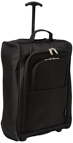 5 Cities Cabin Trolley Backpack Hand Luggage, 55 cm, 42 Liters, Black