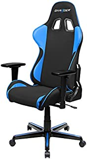 DXRacer FH11/NB Black Blue Formula Series Racing Bucket Seat Office Chair Gaming Ergonomic with Lumbar Support