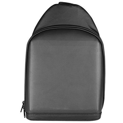 ROSELI Mochila con Pantalla LED, Bolso de Hombro Masculino, Bolso PequeeO, Pantalla de AplicacióN, Imagen de Personalidad, para Tableta