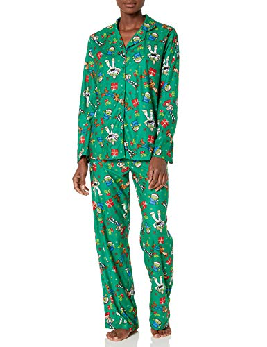 Disney Women's Toy Story Holiday Family Sleepwear Collection, Christmas Green (Adult), M