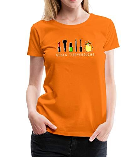Hamster Gegen Tierversuche Geschminkt Frauen Premium T-Shirt, 3XL, Orange