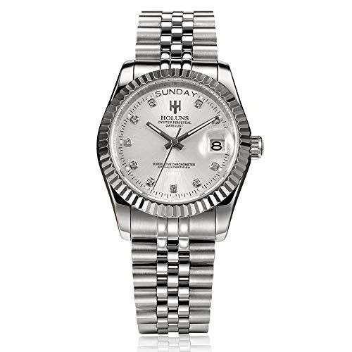 Uhren für Männer Frauen, Mode Uhren holuns Stahl Herren Armbanduhr, helle wasserdicht Armbanduhr