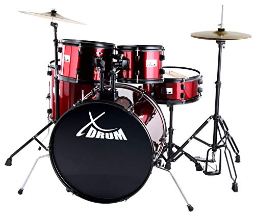 "XDrum Rookie 22"" Fusion Schlagzeug Komplettset Ruby Red inkl. Schule + DVD"