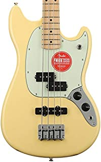 $574 » Fender Special Edition Mustang PJ Bass - Buttercream with Maple Fingerboard - Sweetwater USA Exclusive