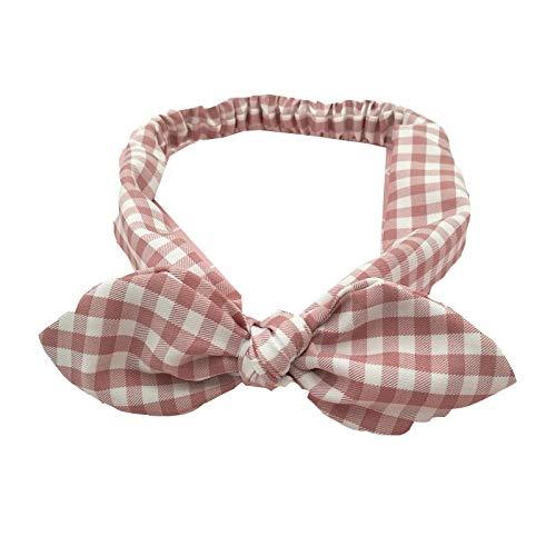 Qinqin666 Bandeaux Bow noueuse Fleur Bandeau Bande Visage tête Wrap Eponge Yoga Sport Douche Bandeau 4 Pack pour Femme (Color : Pink, Size : One Size)