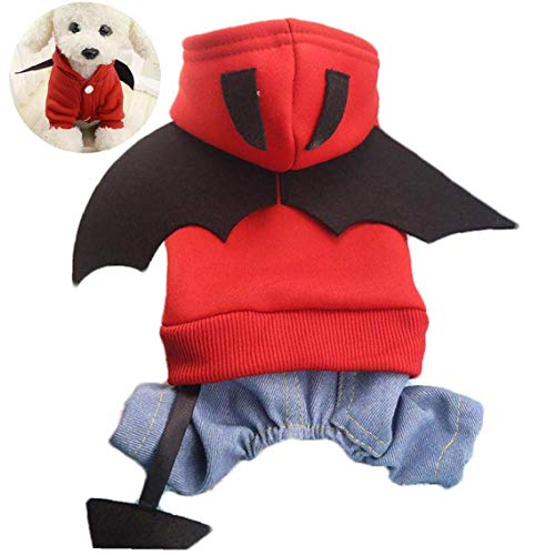ZHTY Batman Dog Pet Disfraz Batman Camisa de Batman con Ropa de alas para Perros Mascotas Pao de Mascotas Tamao Grande Song