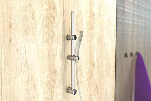 EISL DXZ-08 Signo – Barra de pared con soporte de pared (70 cm, acero inoxidable cromado)