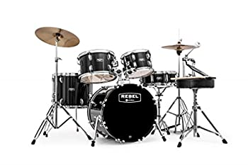 Mapex RB5844FTCDK Rebel 5-Piece Drum Set with Hardware Cymbals and 22  Bass Drum - Dark Red