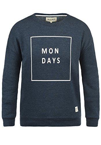 DESIRES Emma Damen Sweatshirt Pullover Sweater Mit Rundhalsausschnitt, Größe:S, Farbe:Insignia Blue Melange (8991)