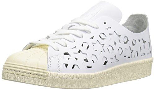 adidas Originals Women's Superstar 80s Cut Out W Running Shoe, FTWWHT,CWHITE, 7.5 Medium US