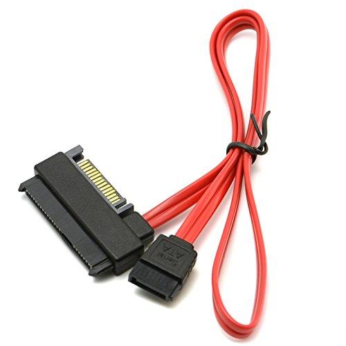 Goliton® SFF-8482 SAS auf SATA Kabel SAS Festplatte zu Motherboard SATA-Port Adapterkabel 15PIN Netzanschluss - Schwarz