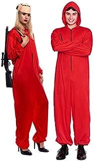 Disfraz de La casa de Papel para Disfraz Ladr/ón Disfraces Carnaval Halloween Incluye un Traje con Capucha y una Dali m/áscara Ametralladora Hombre Mujer Adulto Ni/ño,ChildM115~135CM