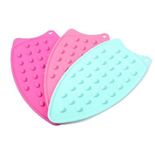 Sukisuki almohadilla de plancha para alfombras alfombrilla de silicona soporte para plancha (resistencia al calor caliente protección Junta–color al azar