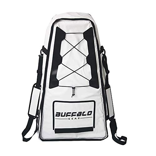 Buffalo Gear Large Portable Waterproof Kayak Bag 20x9x36 inch,Insulated Fish Cooler Bag,Monster Leakproof Fish Kill Bag,Keep ice-Cold More Than 24 Hours