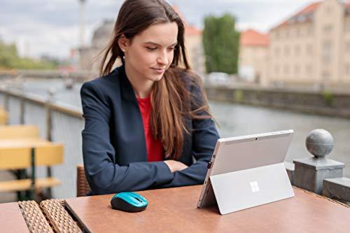 Verbatim kabellose GO NANO-Maus - Optische Funkmaus für PC und Mac mit 2.4 GHz und 1600 dpi Auflösung, Nano-Receiver, caribbean blue, Blau