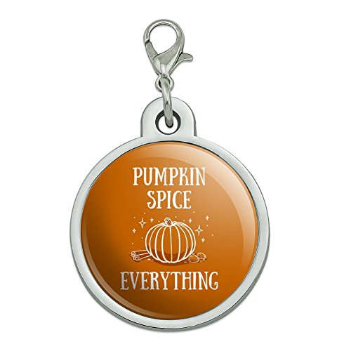 GRAPHICS & MORE Pumpkin Spice Everything Chrome Plated Metal Pet Dog Cat ID Tag