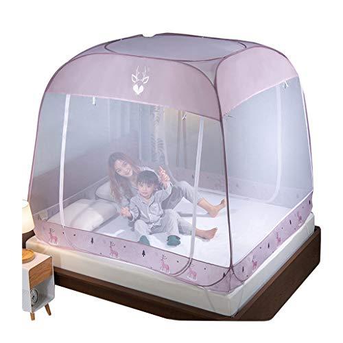 Bed luifel gaas tent voor grote/king grootte bed slaper stapelbed gordijn student slaapzaal muggennetten beddengoed tent roze