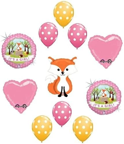 80% de descuento LoonBalloon Fox Woodland Animals It's a GIRL Welcome Baby Shower Shower Shower 11 Party Mylar Balloons Set by LoonBalloon  calidad auténtica