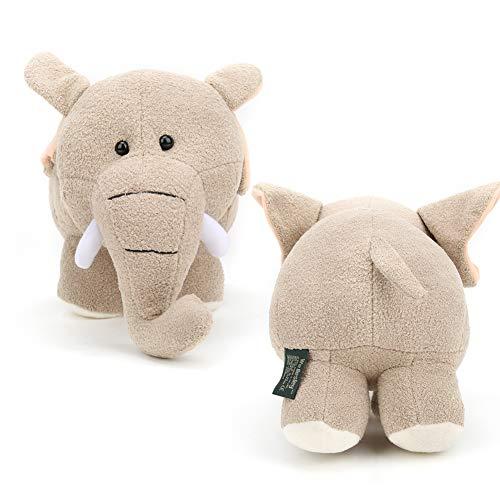 Peluche, Peluche para niños, Simulación para bebés(Beige elephant, Large size 40 * 25cm)