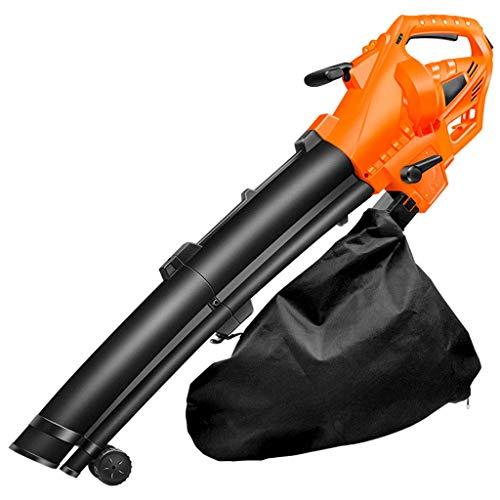 YANGSANJIN elektrische blazer handaangedreven bladblazer voor multifunctionele doeleinden ergonomische greep vochtige ondergrondse garage sportstaven tuinreiniging (oranje), 3000 W, 30 m